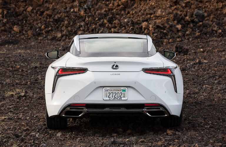 2021 Lexus LC from exterior rear