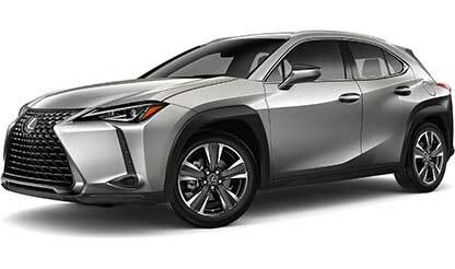 Exterior of the Lexus UX shown in Atomic Silver.