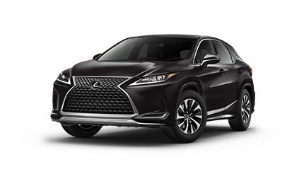 Exterior of the Lexus RX shown in Caviar.