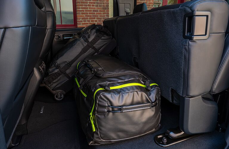 Upright rear seats in the 2020 Toyota Tundra to accommodate extra cargo