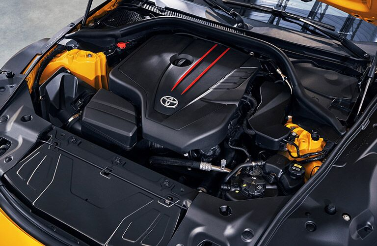 2021 Toyota GR Supra engine from above