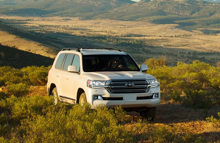 2020 Toyota Land Cruiser in a field front view