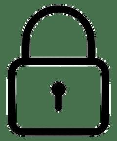 Closed padlock image