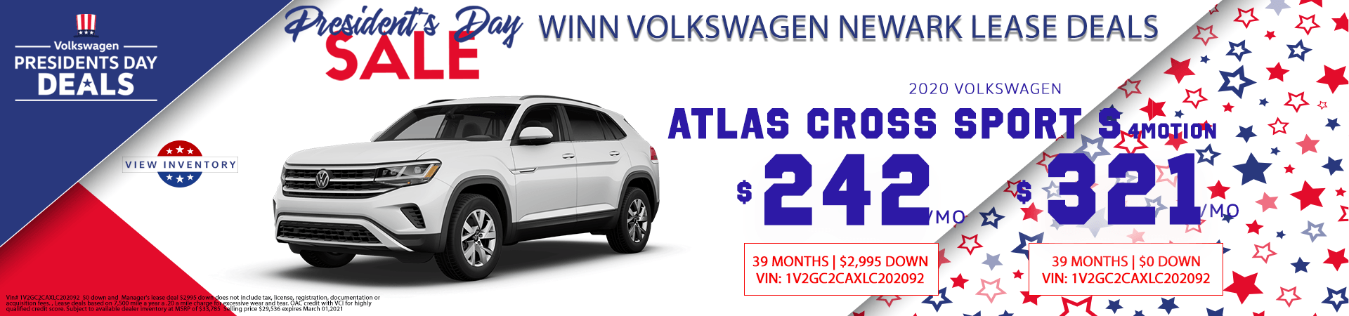 February Atlas Cross Sport lease deals