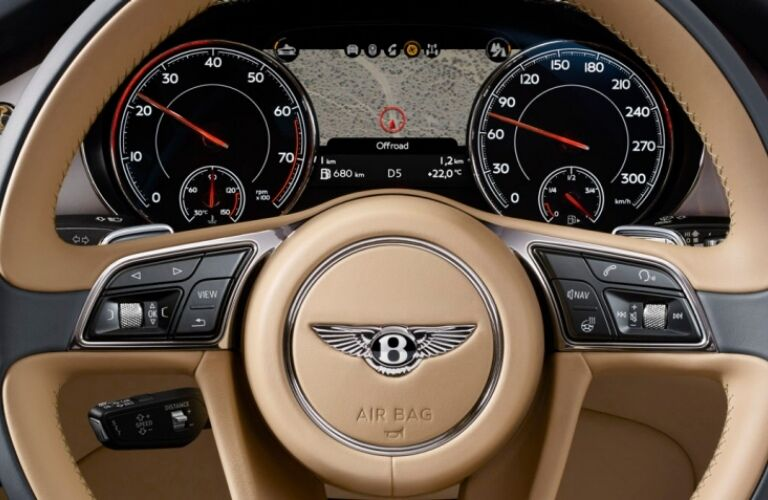 Steering wheel in the 2019 Bentley Bentayga