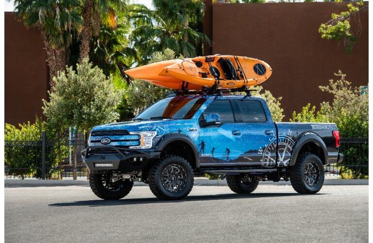 2018 Ford Ranger with a kayak on top