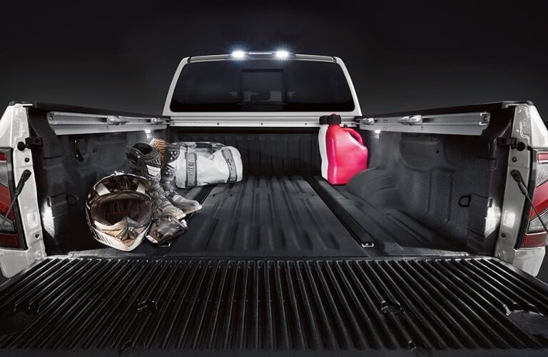 2021 Nissan TITAN with tailgate open