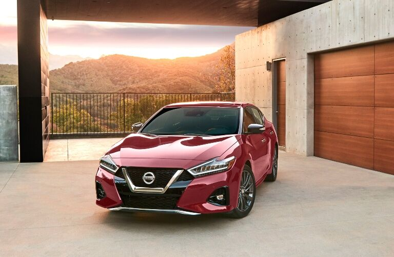2019 Nissan Maxima with hilly background