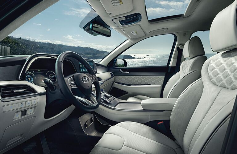 View of the ocean from the cabin of the 2020 Hyundai Palisade