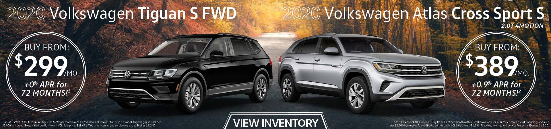 2020 VW Tiguan, 2020 VW Atlas Cross Sport