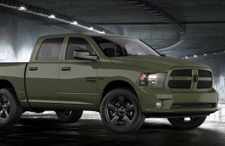 2020 RAM 1500 Classic parked in a tunnel