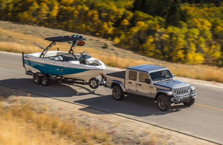 2020 Jeep Gladiator with trailer