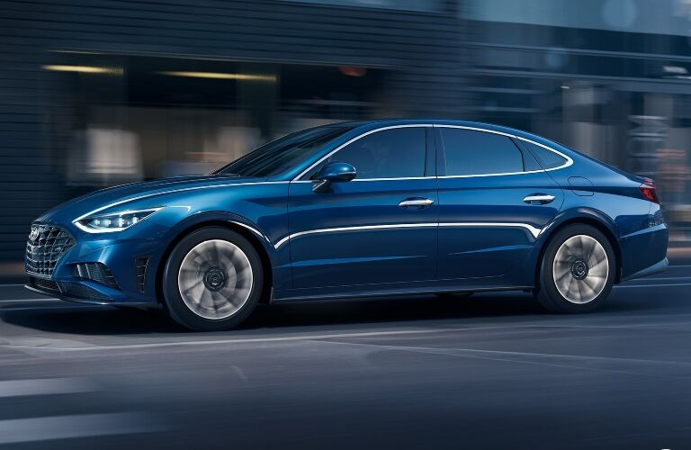 2020 Hyundai Sonata going down the street