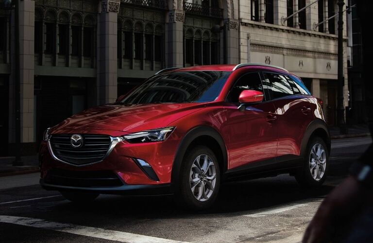 2021 Mazda CX-3 going down the street