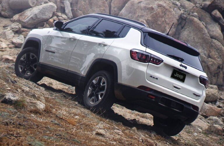 2020 Jeep Compass climbing up a hill