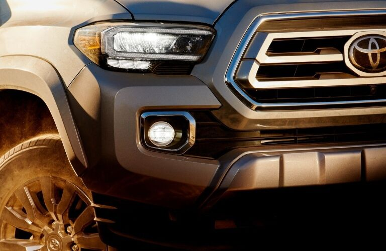 Close up of the front grille on the 2020 Toyota Tacoma
