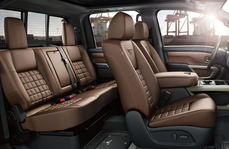 2021 Nissan TITAN front and back seats