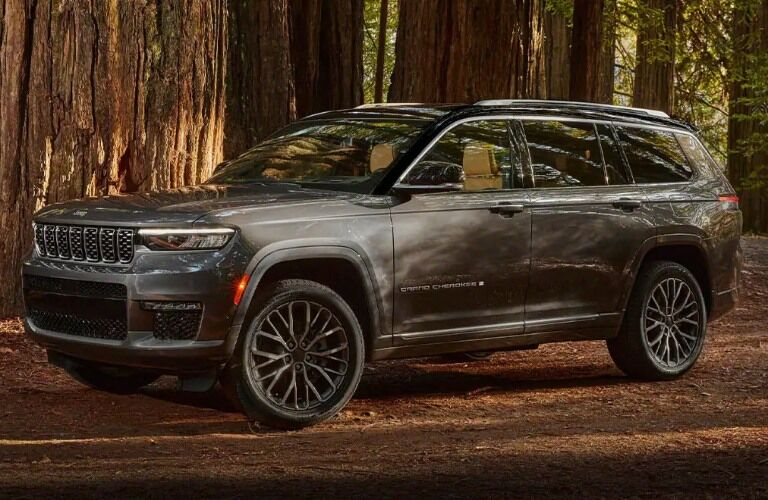 2021 Jeep Grand Cherokee L in the woods
