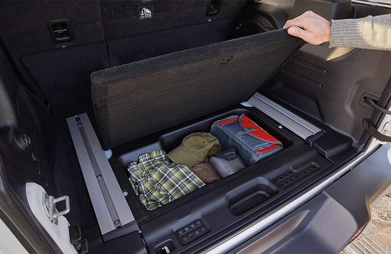 Rear storage in 2019 Jeep Wrangler