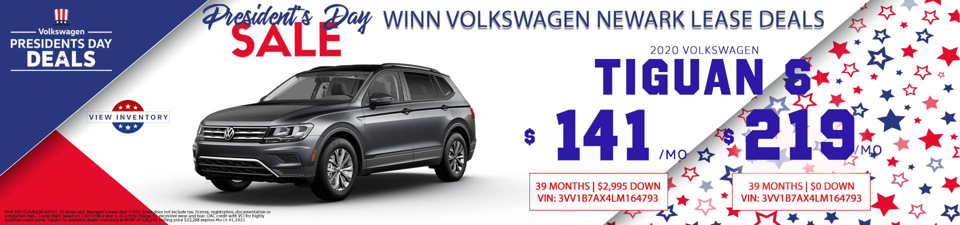 February Tiguan lease deals