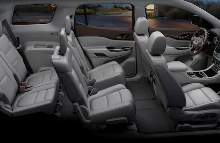 2020 GMC Acadia three rows of seats