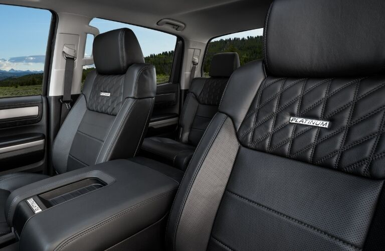 Front seats inside of the 2021 Toyota Tundra