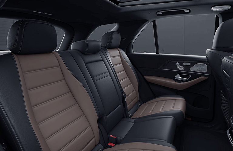 2021 MB GLE interior rear cabin seats