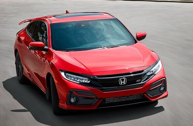 2020 Honda Civic Si Coupe going down the road