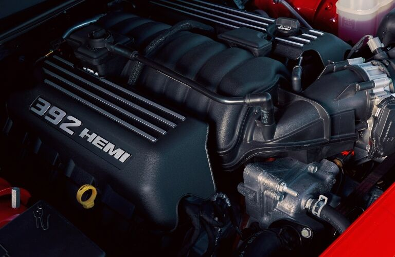 One of the four 2020 Dodge Challenger engine options