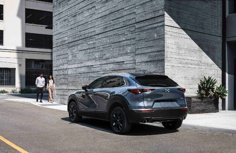 2021 Mazda CX-30 2.5 Turbo driving through city