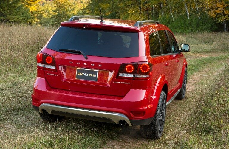 2020 Dodge Journey going down a grassy road