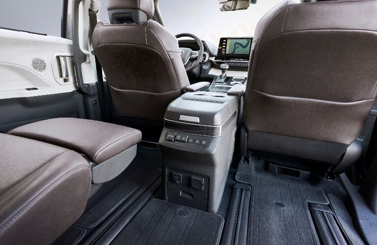 2021 Toyota Sienna with seat folded down