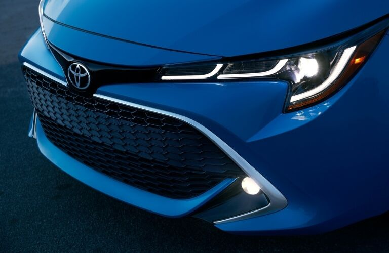 Close up of the front end of the 2020 Toyota Corolla Hatchback