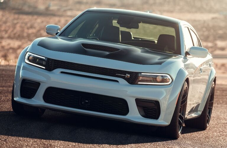 2020 Dodge Charger on the dirt road