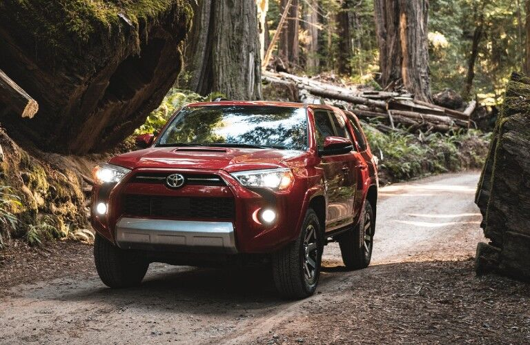 2021 Toyota 4Runner driving on a trail