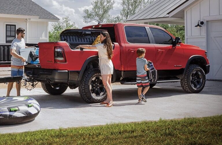 2020 RAM 1500 red side back view