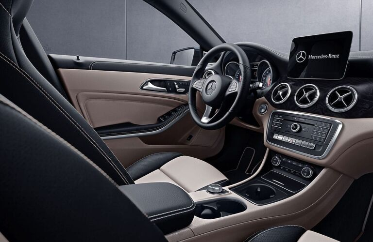 Front Seat and Dash of 2019 Mercedes-Benz CLA Coupe