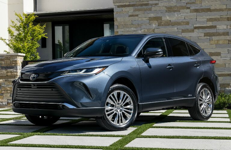 2021 Toyota Venza parked on cement and grass