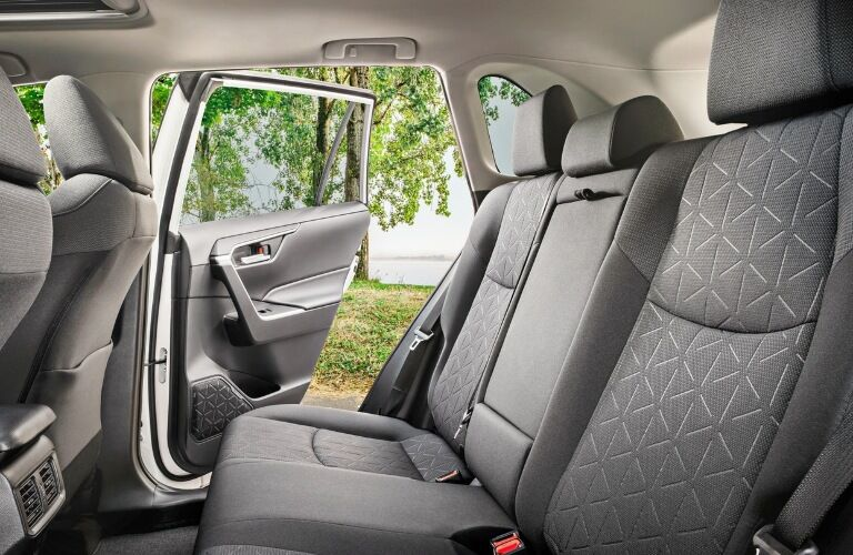 2020 Toyota RAV4 back seats with door open