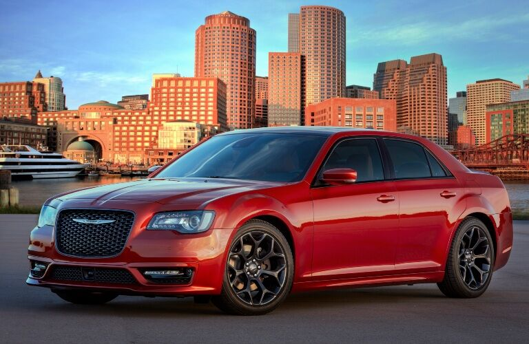 2020 Chrysler 300 parked in front of large buildings
