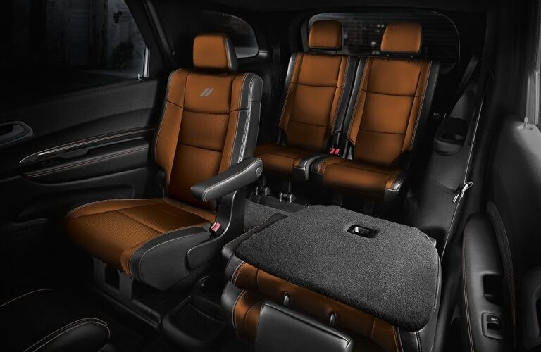 2020 Dodge Durango brown and black leather seats