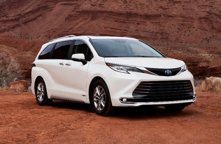 2021 Toyota Sienna in the desert