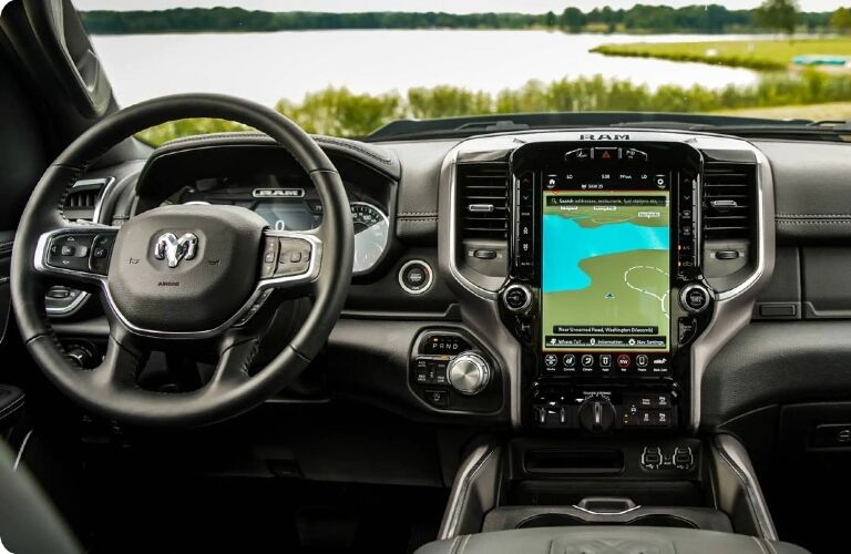 Behind the wheel in the 2021 RAM 1500