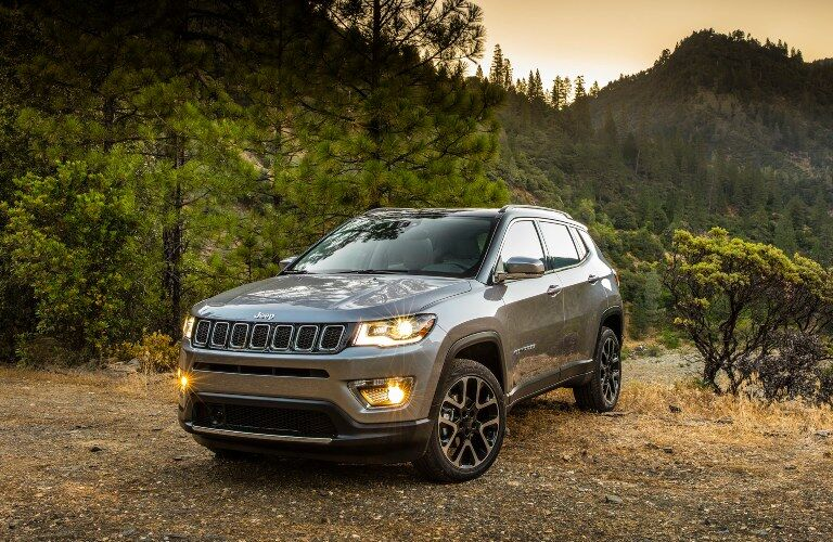 2020 Jeep Compass silver front view