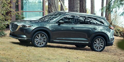 Mazda CX-9 in the woods