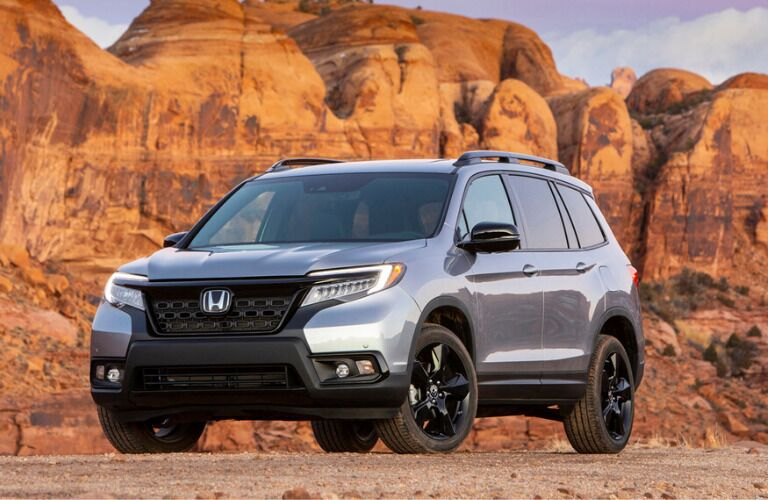 Front view of silver 2020 Honda Passport