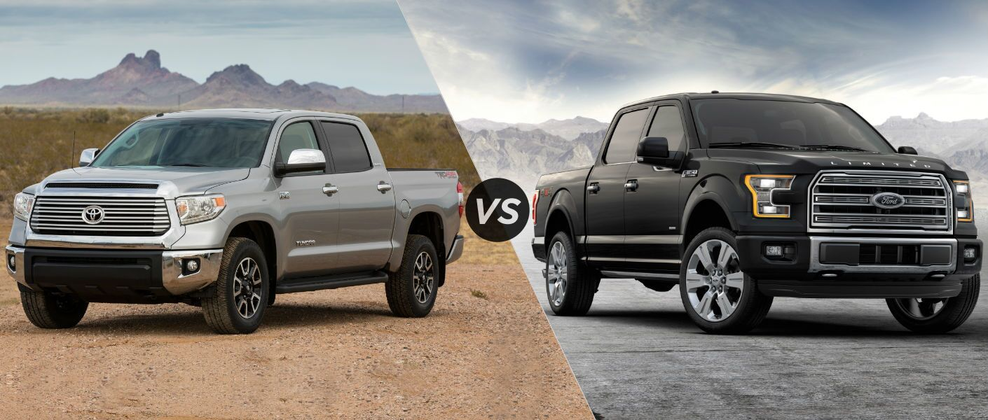 2016 Toyota Tundra vs 2016 Ford F-150 at Heritage Toyota