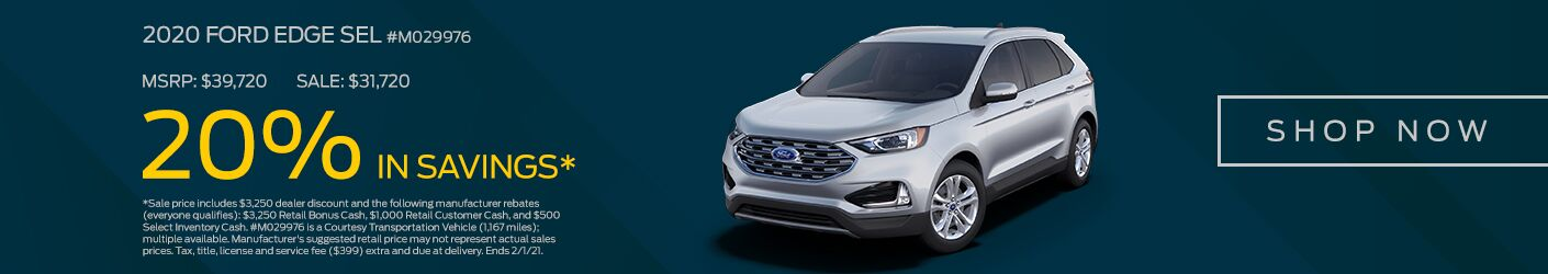 Jan 2021 2020 Ford Edge