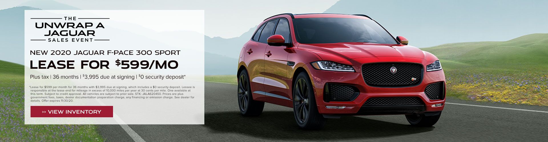 New 2020 Jaguar F-PACE 300 SPORT