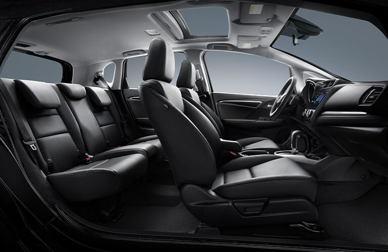 Interior view of the seating available inside a 2020 Honda Fit